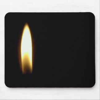 Kerzen-Flammen-Begräbnis- Tod trauriges schwarzes Mousepad