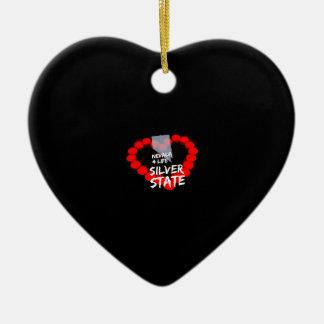 Kerzen-Herz-Entwurf für den Staat von Nevada Keramik Ornament