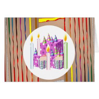 Kerzen Kuchen-Geschenk-multi Bild-Kunstsammlungs- Karte