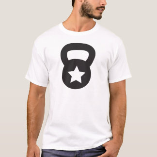 Kettlebell mit einem leeren Stern T-Shirt