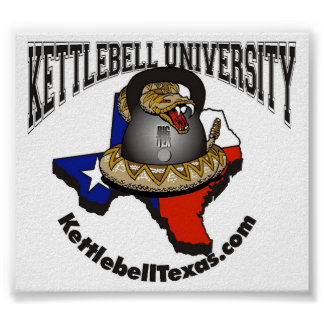 Kettlebell Universität groß Poster