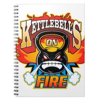 Kettlebells auf Feuer Spiral Notizbücher