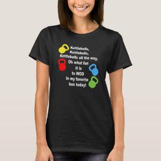 Kettlebells, Kettlebells, Kettlebells vollständig. T-Shirt