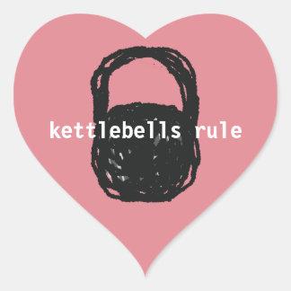 kettlebells Regelaufkleber-Herzform Herz-Aufkleber