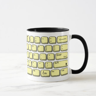 Keyboard -, zerteilt es tasse