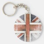 Keychain avec le drapeau vintage de la Grande-Bret Porte-clés