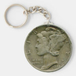 Keychain de face de dixième de dollar des 1943 USA Porte-clé