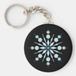 Keychain de flocon de neige porte-clés