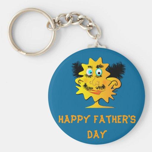 """keychain """"der glückliche Vatertag """" Schlüsselband"""