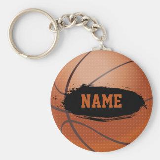 Keychain personnalisé par basket-ball grunge porte-clef