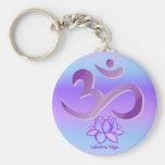 Keychain pourpre de l'OM et du Lotus Porte-clé