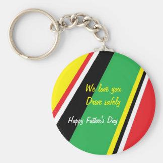 Keychainsantrieb der Vatertag sicher Standard Runder Schlüsselanhänger