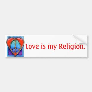 kgb073_450, Liebe ist meine Religion Autoaufkleber