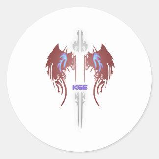 KGE Emblem Mini Runder Aufkleber