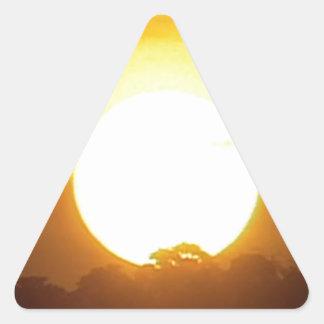 kground addieren NAMENSzitat-FOTO-Sonnenuntergang, Dreieckiger Aufkleber