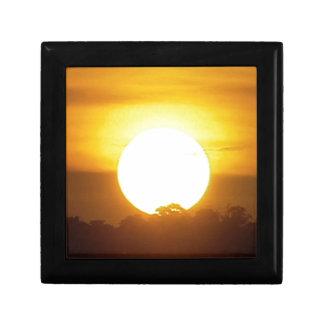 kground addieren NAMENSzitat-FOTO-Sonnenuntergang, Kleine Quadratische Schatulle