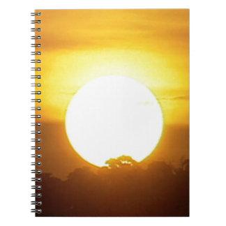 kground addieren NAMENSzitat-FOTO-Sonnenuntergang, Spiral Notizblock