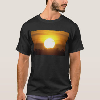 kground addieren NAMENSzitat-FOTO-Sonnenuntergang, T-Shirt