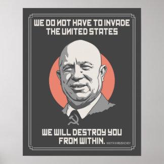 Khrushchev aus poster