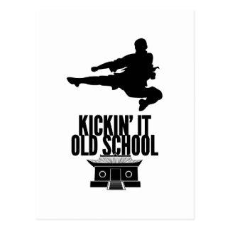 Kickin es alte Schule Postkarte