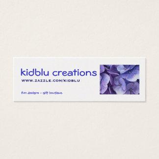 kidblu Kreationens-Einzelteilumbau - Mini Visitenkarte