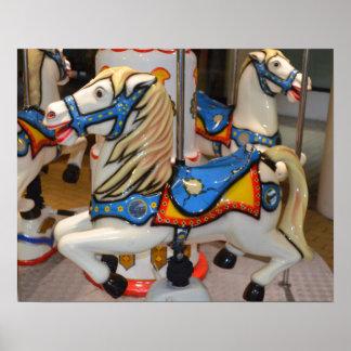 Kiddie-Karussell-Pferde Poster