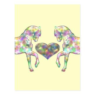 Kiddies Pferd und Liebe-Herz Postkarte
