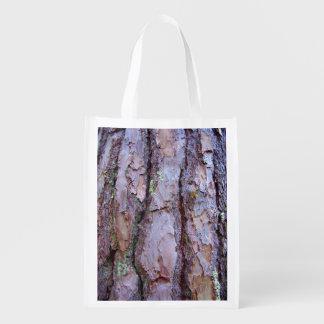 Kiefer-Barken-wiederverwendbare Tasche Wiederverwendbare Einkaufstasche