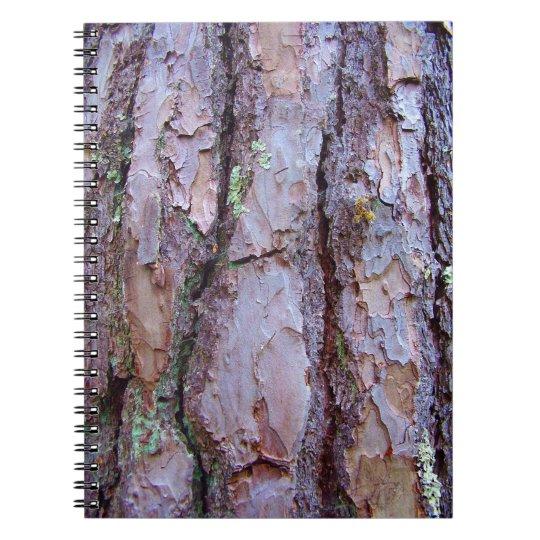 Kiefern-Baum-Barken-Foto-Notizbuch Notizbuch