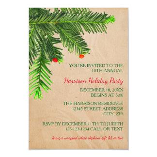 Kiefern-Baum-Niederlassung - Party Einladung des