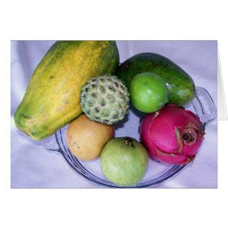 Kiefern-Insel-tropische Frucht Karte