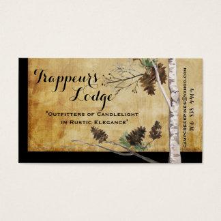Kiefern-Kegel und Baum Texturblick-Visitenkarten Visitenkarte