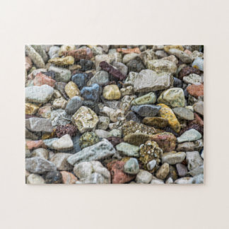 Kiesel auf einem Strand-Fotopuzzlespiel