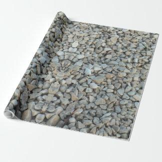 Kiesel auf Strand-Stein-Fotografie Geschenkpapier