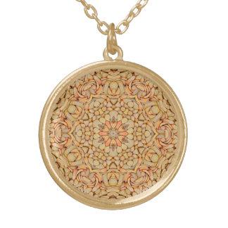 Kiesel-Vintage Kaleidoskop-Muster-Halskette Vergoldete Kette