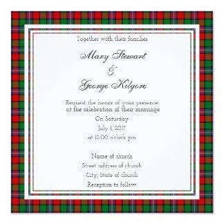 Kilgore schottische Hochzeits-Quadrat-Einladung Karte