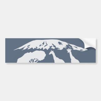 Kilimanjaro (blau) autoaufkleber
