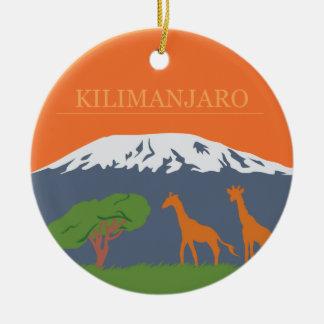 Kilimanjaro Keramik Ornament