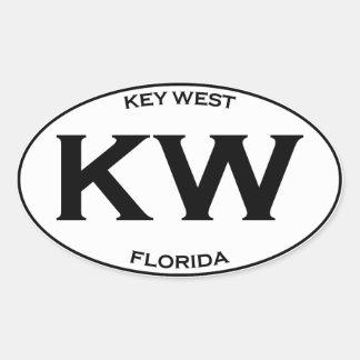 Kilowatt-Kew Westflorida Ovaler Aufkleber