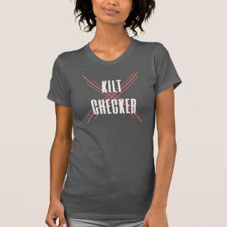 Kilt-Schachbrett-Behälter T-Shirt