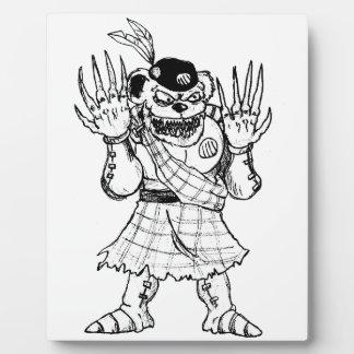 Kilted Bearman Fotoplatte