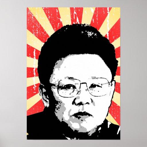 Kim Jong Il Plakat