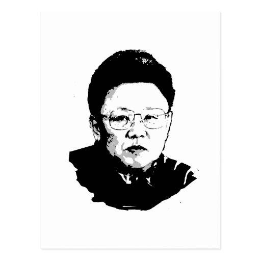 Kim Jong Il Postkarten
