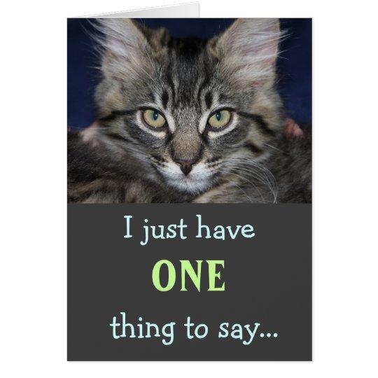 Kimber Katze danken Ihnen zu kardieren Karte