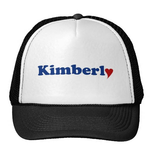 Kimberly avec le coeur casquette de camionneur