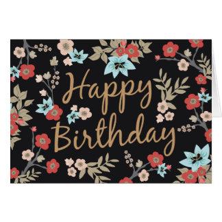 Kimono-Druck-alles Gute zum Geburtstag Grußkarte