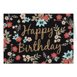 Kimono-Druck-alles Gute zum Geburtstag Karte