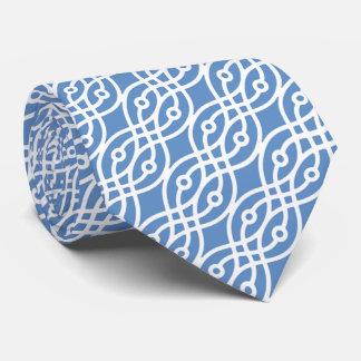 Kimonodruck, Himmelblau und Weiß Krawatten