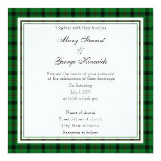 Kincaide schottische Hochzeits-Quadrat-Einladung Karte