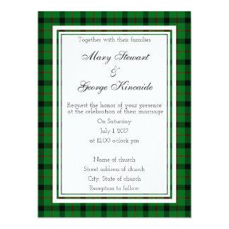 Kincaide schottisches Wedding Invitatio Karte